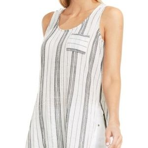 Two by Vince Camuto Strip cotton Gauze Side Tank